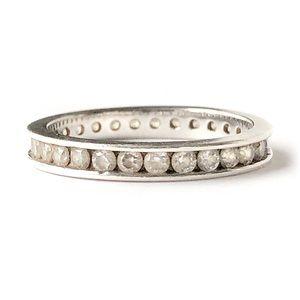 Vintage Eternity Ring Cubic Zirconia Sterling